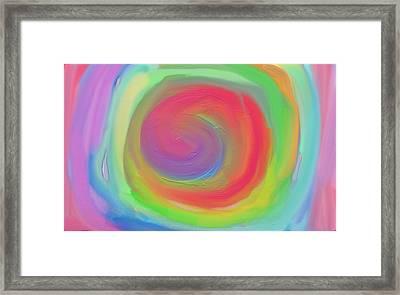 Bright Spiral Framed Print