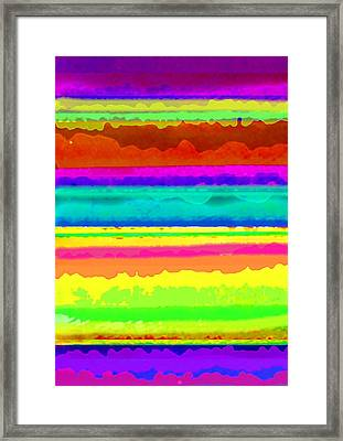 Bright Stripe Framed Print by Louisa Knight