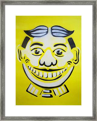 Bright White Yellow Tillie Framed Print by Patricia Arroyo