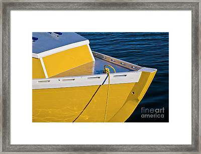 Bright Yellow Boat Framed Print
