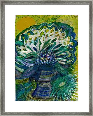 Brightness Bouquet From My Imagination Framed Print by Anne-Elizabeth Whiteway