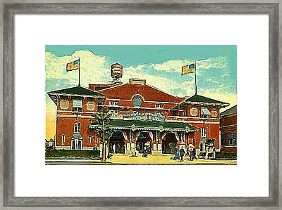 Brighton Beach Theatre At Coney Island In 1910 Framed Print by Dwight Goss