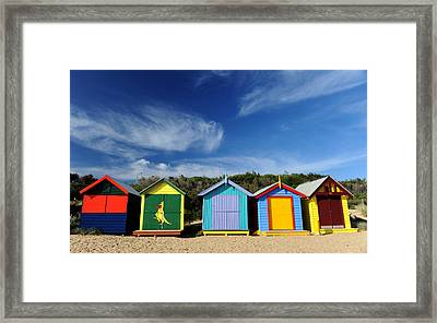 Brighton Beach Framed Print by Yew Kwang