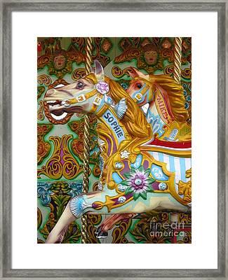 Brighton Carousel Framed Print by Anne Gordon
