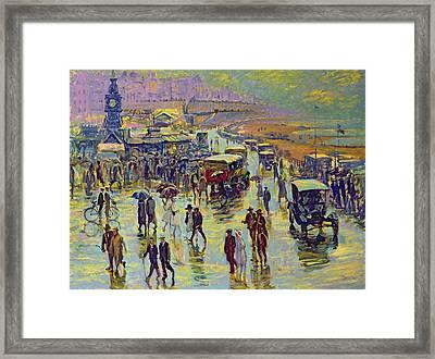 Brighton On A Rainy Day Framed Print by Robert Tyndall