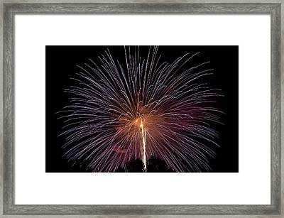 Brilliance In The Night Sky Framed Print by Michael Krahl