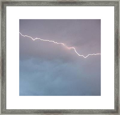 Brilliant Bolt Framed Print by Elizabeth  Sullivan