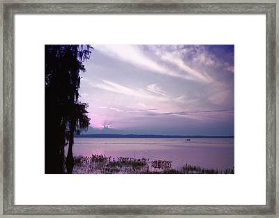 Brilliant Everglades Sunset Framed Print