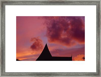 Brilliant Red And Burgundy Sunset Framed Print by Jason Edwards