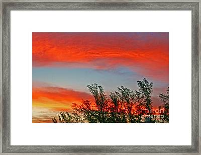Framed Print featuring the photograph Brilliant Sunrise by Joan McArthur