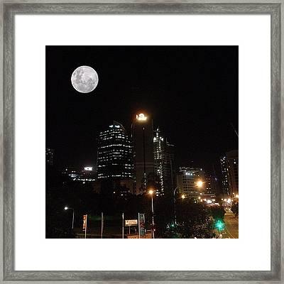 Brisbane Moon Framed Print