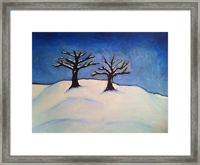 Brisk Winter Framed Print