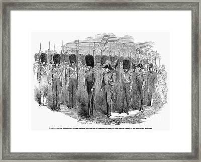 Britain: Fusiliers, 1854 Framed Print by Granger