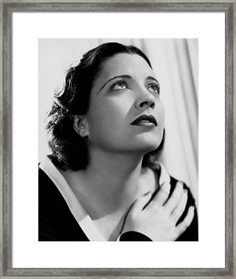 British Agent, Kay Francis, 1934 Framed Print by Everett