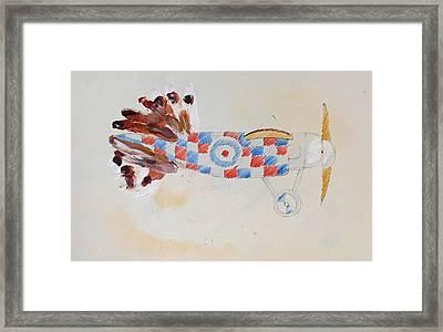 British Bird Plane Framed Print by Virginia Stuart