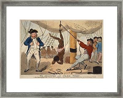 British Cartoon Of A True Event Framed Print by Everett