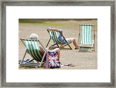 British Deck Chairs Framed Print by Andrew  Michael