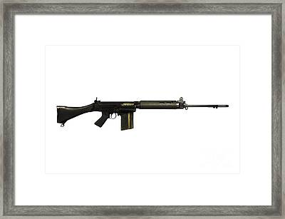 British L1a1 Self-loading Rifle Framed Print by Andrew Chittock
