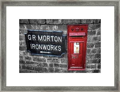 British Mail Box Framed Print by Adrian Evans