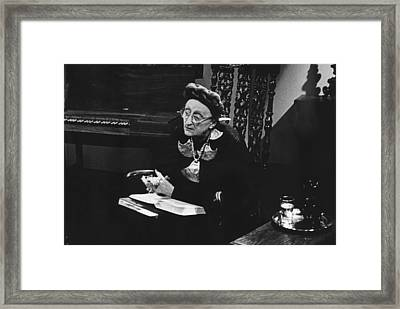 British Poet And Critic Dame Edith Framed Print by Everett