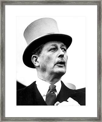 British Prime Minister Harold Framed Print by Everett