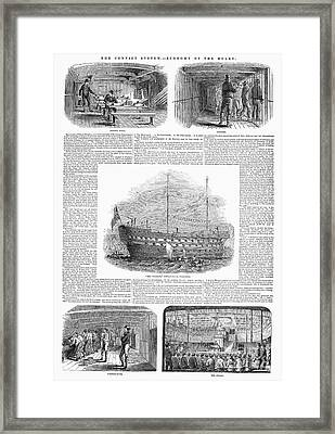 British Prison Ship, 1846 Framed Print by Granger