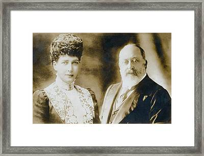 British Royal Family. British Queen Framed Print