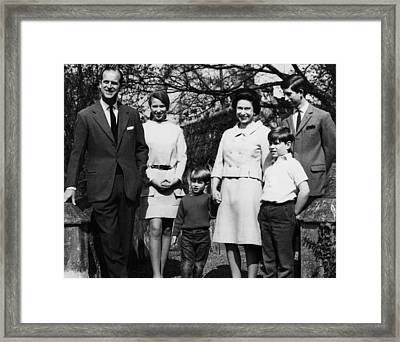 British Royal Family. From Left Prince Framed Print