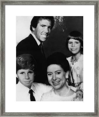 British Royal Family. Front, From Left Framed Print
