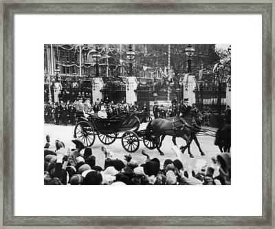 British Royal Family. In Coach British Framed Print by Everett
