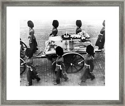 British Royal Family. Procession Framed Print
