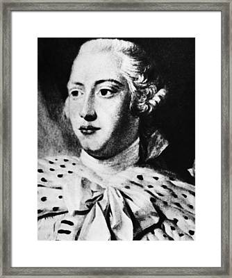 British Royalty. British King George Framed Print by Everett