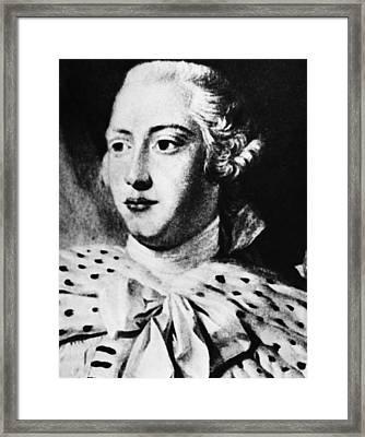 British Royalty. British King George Framed Print by Everett