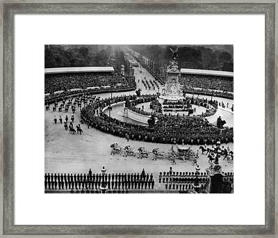 British Royalty. Coronation Procession Framed Print by Everett
