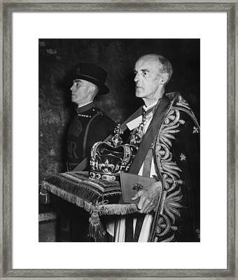 British Royalty. Dean Of Westminster Framed Print by Everett