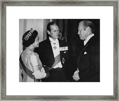 British Royalty. From Left  Queen Framed Print by Everett