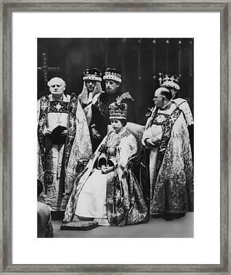 British Royalty. Front Row, From Left Framed Print by Everett