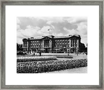 British Royalty. Grounds Of Buckingham Framed Print