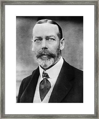 British Royalty. King George V Framed Print by Everett