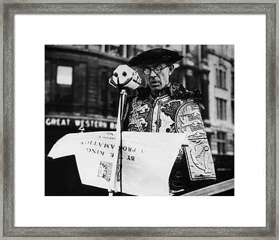 British Royalty. Lancaster Herald Framed Print by Everett