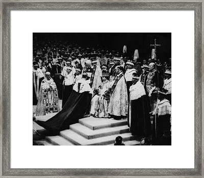 British Royalty. Left, Holding Book Framed Print