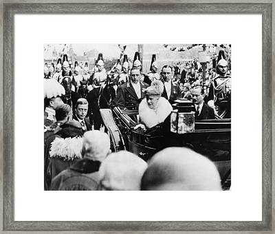 British Royalty. Left, Outside Coach Framed Print by Everett
