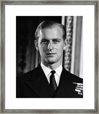 British Royalty. Lieutenant Philip Framed Print