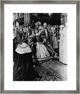 British Royalty. Queen Elizabeth I Framed Print by Everett