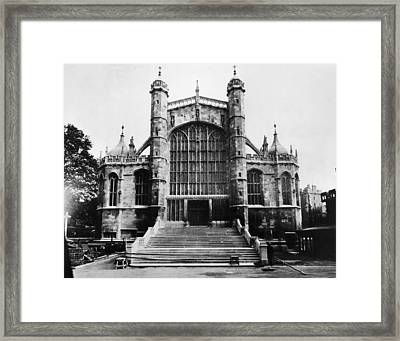 British Royalty. St. Georges Chapel Framed Print