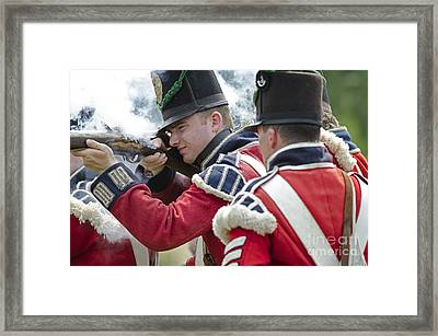 British Soldier Shooting Framed Print by JT Lewis