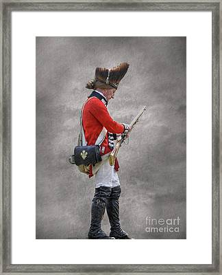 British Soldier With Rifle American Revolution Framed Print by Randy Steele