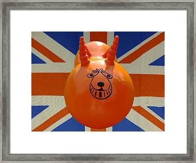 British Space Hopper Framed Print