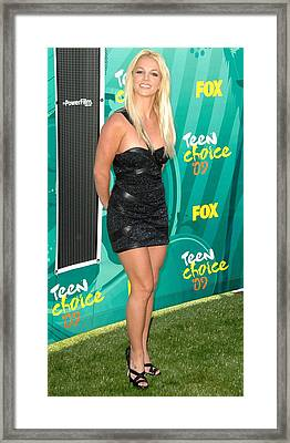 Britney Spears Wearing A Roberto Framed Print