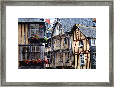 Framed Print featuring the photograph Brittany Buildings by Dave Mills